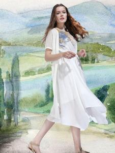 艺域棉麻文艺女装17夏款连衣裙