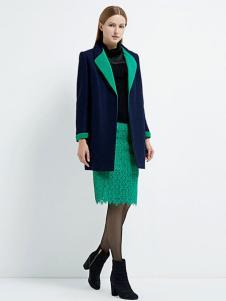 珂尼蒂思女装绿色蕾丝裙
