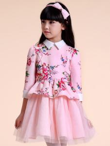 酷芭蒂童装粉色纱裙