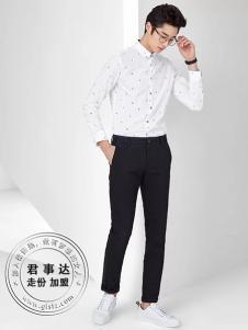 欧森朗男装2017新品白衬衫