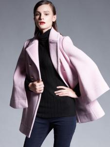 适时雅集新款粉色大衣
