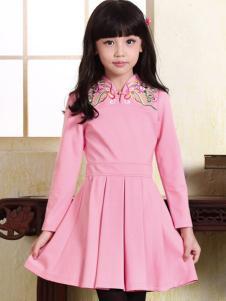 酷芭蒂童装中国风设计连衣裙
