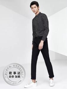欧森朗男装2017新品格纹衬衫