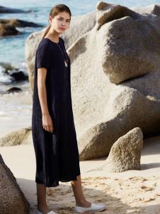 唯简尚女装新款时尚棉麻连衣裙