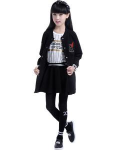 CociCoki可趣可奇童装黑色卫衣外套