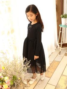 金果果童装2017新品黑色连衣裙