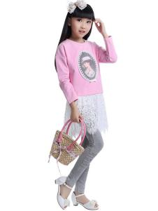 CociCoki可趣可奇童装蕾丝拼接裙