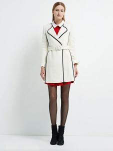 珂尼蒂思女装白色收腰大衣