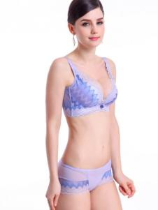 拉美儿女士紫色文胸套装