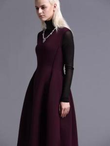 蓝黛圣菲女装收腰连衣裙