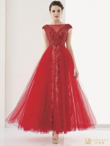 laberry拉宝丽红色蓬蓬裙