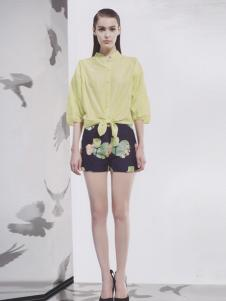 阿莱贝琳2017春夏黄色衬衫