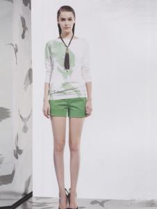 阿莱贝琳绿色休闲短裤
