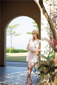 DILUNNUNA帝伦奴那2017年春夏新品纯白OL修身连衣裙