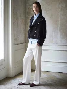 Lanvin朗雯2017春季新品双排扣廓形外套