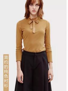 兰卡芙2017春季新品简约纯色衬衫