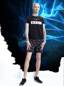 新升流派2017夏季黑色T恤