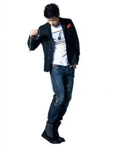 蓝古威-睿宽松牛仔裤