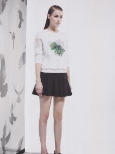 阿莱贝琳白色印花T恤