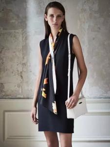 Lanvin朗雯2017春季新品修身无袖连衣裙