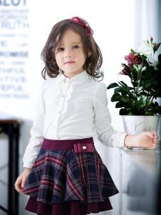 蓝蚁迪堡童装女童白衬衫