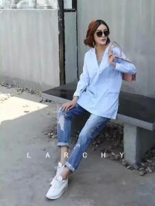 LARCHY来尔佳昵2017春装新品白衬衫