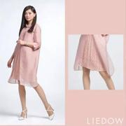 LIEDOW蕾朵2017新品:十里桃花色 这个颜色太美了