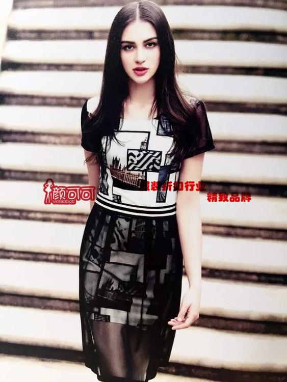 杭州一线品牌女装纳纹女装折扣批发 颜可可折扣女装批发