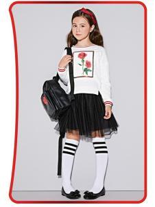 NEEZA乐鲨童装黑色纱裙