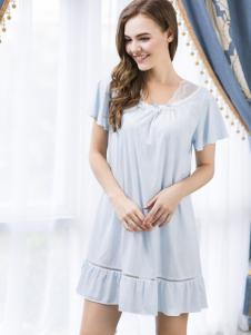 浪漫季节纯色优雅睡裙