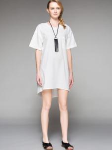 Rlose路莎女装白色连衣裙