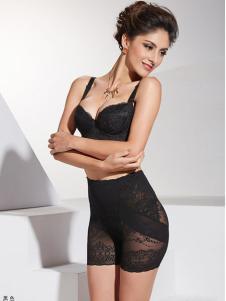 亮尔迷黑色蕾丝塑身裤
