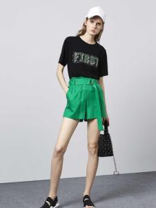 迪笛欧夏季绿色短裤