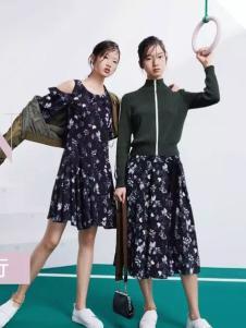 Lily女装2017春夏新品碎花女裙