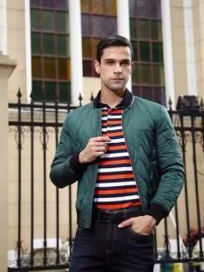 马思图男装绿色夹克衫