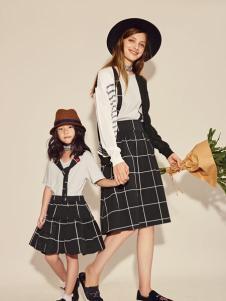西蔻17春夏新款时尚文艺亲子装
