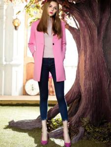 MAXTINA玛仙娜女装粉色外套