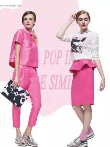 loomva洛米唯娅女装粉色套装