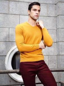马思图男装黄色T恤
