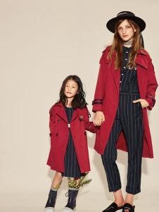 西蔻17春新款红色亲子装系列