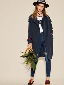 西蔻17春新款时尚风衣外套