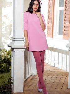 MAXTINA玛仙娜女装粉色连衣裙