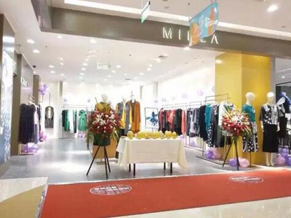 MIK&LA米珂拉实体终端形象店品牌旗舰店店面
