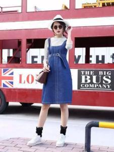 Mn·bf曼诺·比菲2017春夏新品牛仔背带裙