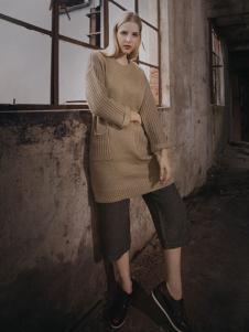 蒙杰诗丹女装长款针织衫