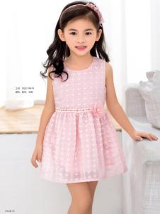 西瓜王子女童粉色连衣裙