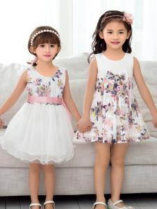 西瓜王子夏季女童印花连衣裙