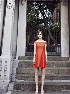 米拉格女装一字肩连衣裙