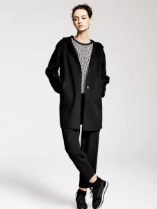 MAAMCHEE缦秋女装黑色休闲外套