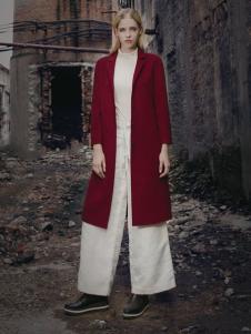 蒙杰诗丹女装西装领外套